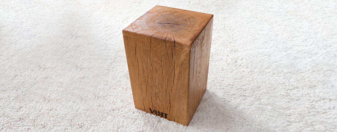 Sägewerk Voit - Sitzklotz aus Eiche Massivholz